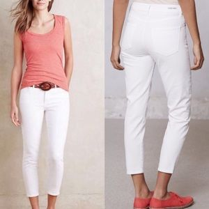 Citizens Of Humanity Cropped White Jeans Size 28